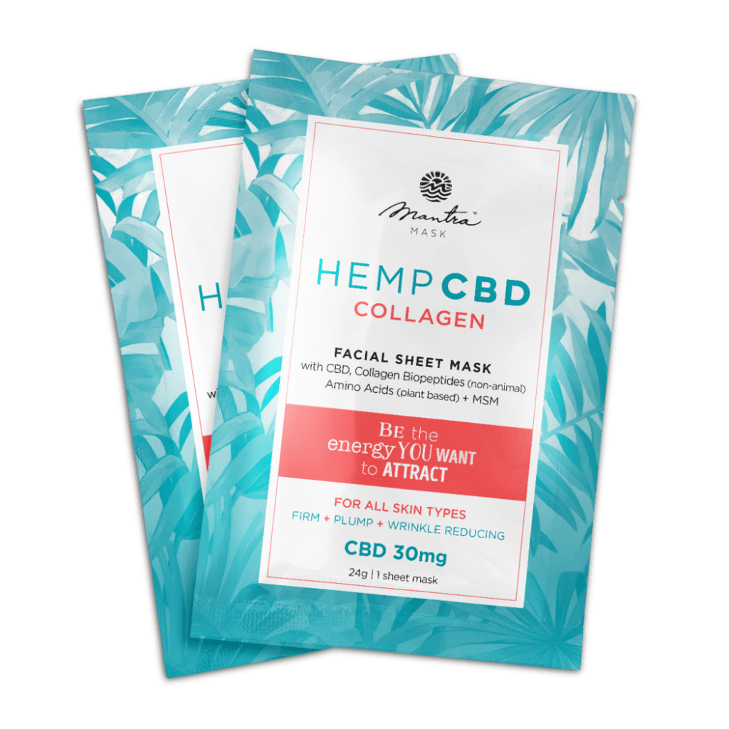 CBD Collagen facial sheet mask